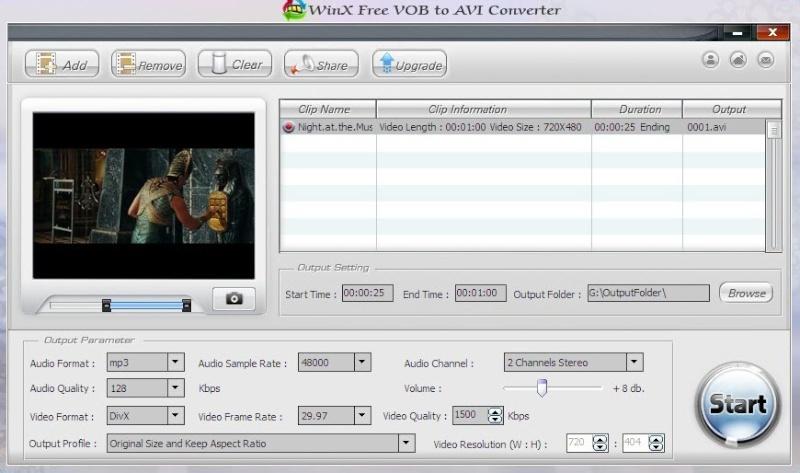 WinX Free VOB to AVI Converter 5.12.1 Scree142