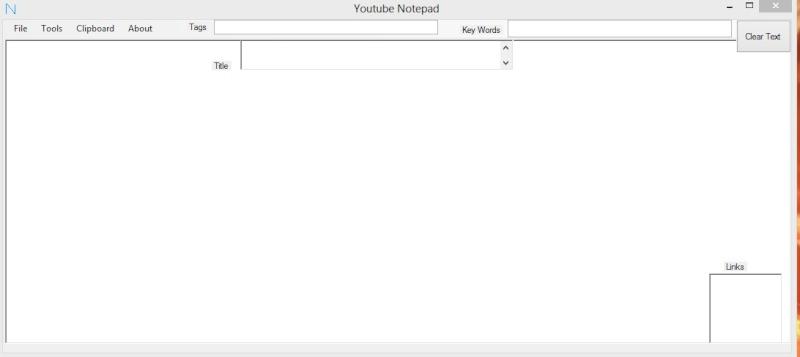 Youtube Notepad 1.0 - Αποθηκεύστε URLs από το YouTube Scree143