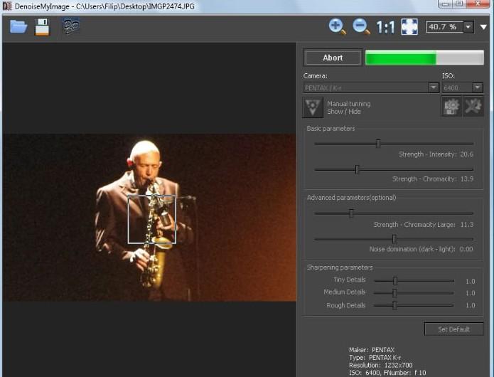 DenoiseMyImage 3.21 - Αφαιρέσετε τον ψηφιακό «θόρυβο» από τις φωτογραφίες σας Scree151