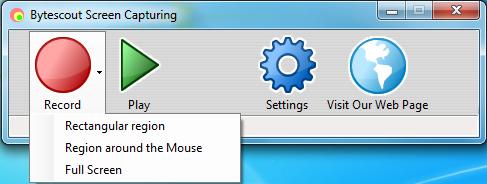 Bytescout Screen Capturing 2.1.0.58 - Καταγράψτε οτιδήποτε από τον υπολογιστή σας Screen15
