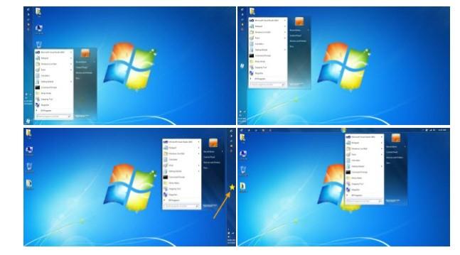 Start Orb Mover 1.0 - Μετακινήστε το κουμπί Έναρξη και το μενού Έναρξη σε οποιοδήποτε σημείο της γραμμής εργασιών.  Screen25