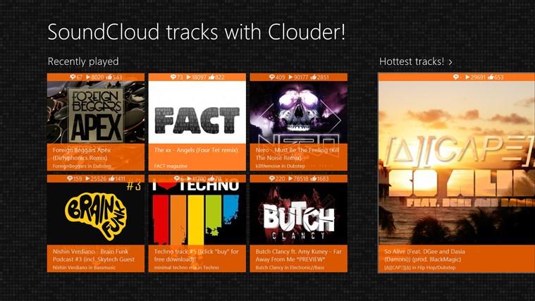 Clouder! 20.0.0.43 - Ακούστε τα αγαπημένα σας SoundCloud tracks Screen50