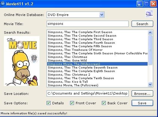 Movie411 1.4.0 - Γρήγορη αναζήτηση και λήψεις πληροφοριών των ταινιών σας Screen55