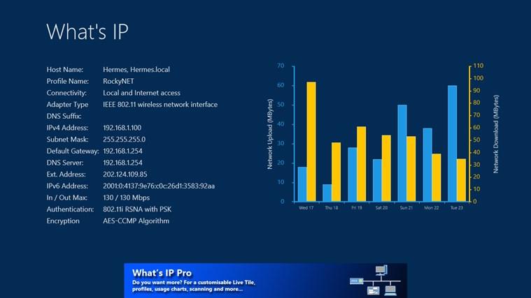 What's IP 1.5.1.5 - Λεπτομερείς πληροφορίες της IP σας στην επιφάνεια εργασίας Screen60