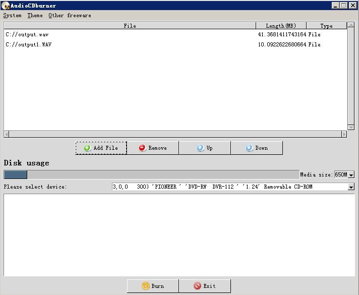 AudioCDburner 1.0.1 Screen82