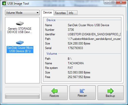 USB Image Tool 1.72 - Κάντε backup και restore στo USB σας με ευκολία Usbit010