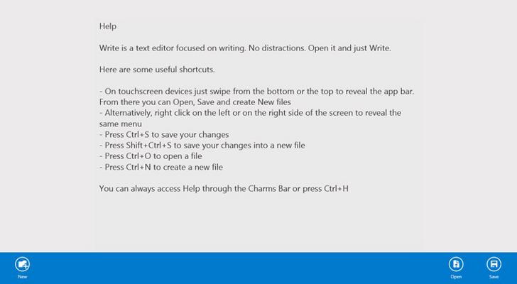Write - πρόγραμμα επεξεργασίας κειμένου για τα Windows 8 Write-10
