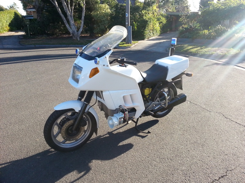 1986 BMW K100RT New South Wales Police Restoration 20130511