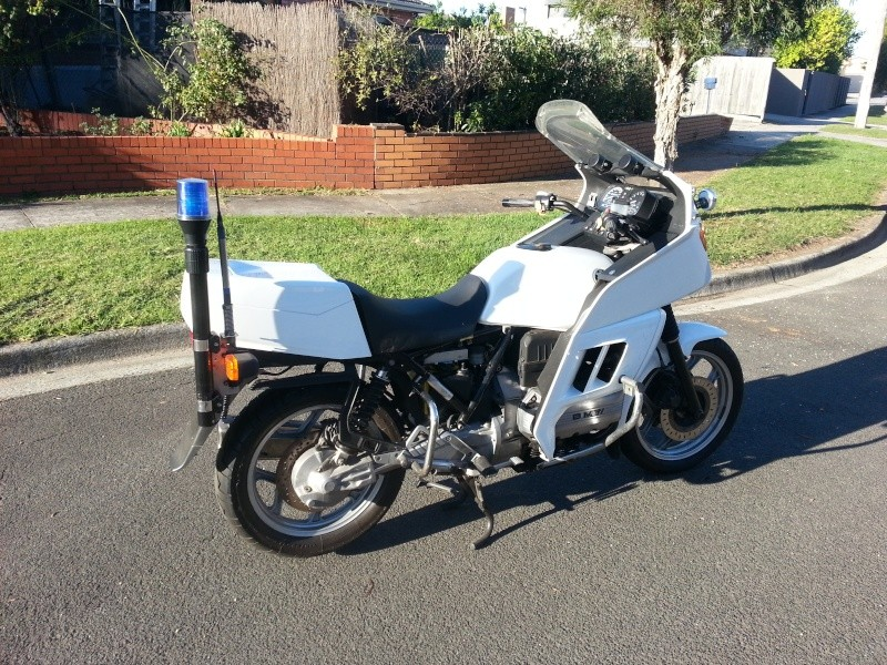 1986 BMW K100RT New South Wales Police Restoration 20130512