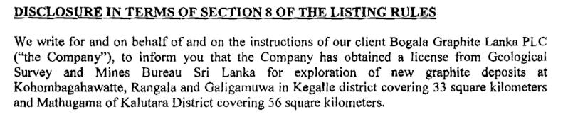 Sri Lanka's Bogala Graphite chases new deposits Boga10