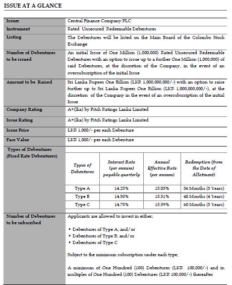 Is CFIN debenture issue prospectus avilable? Cfin10