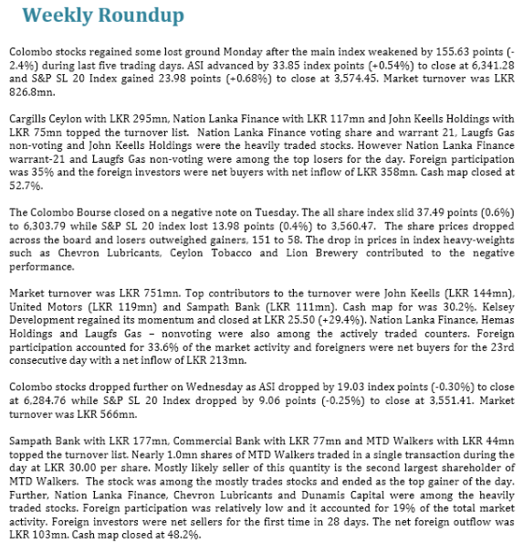 Drying Up of Foreign Inflows Hits Bourse Lss110