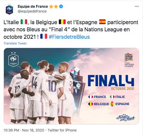"EQUIPE DE FRANCE DE FOOTBALL ""FIERSDETREBLEUS"" Cap11186"