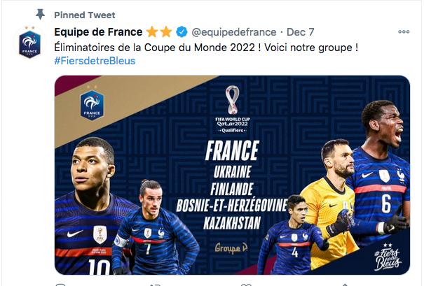 "EQUIPE DE FRANCE DE FOOTBALL ""FIERSDETREBLEUS"" Cap11654"