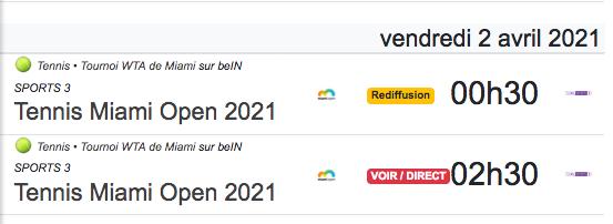 TENNIS PROGRAMME TÉLÉVISION 2021 Cap12862