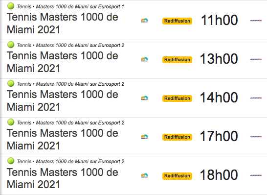 TENNIS PROGRAMME TÉLÉVISION 2021 Cap12880