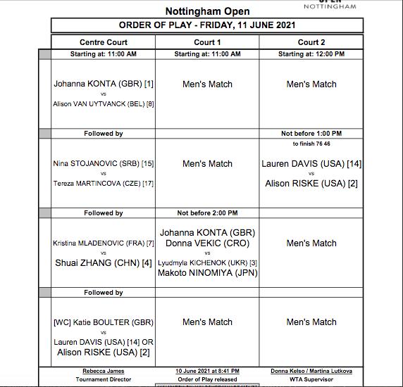 WTA NOTTINGHAM 2021 - Page 2 Cap14610