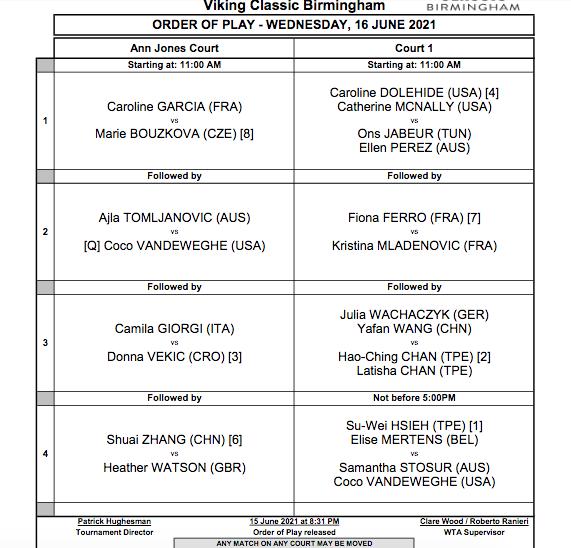 WTA BIRMINGHAM 2021 Cap14732