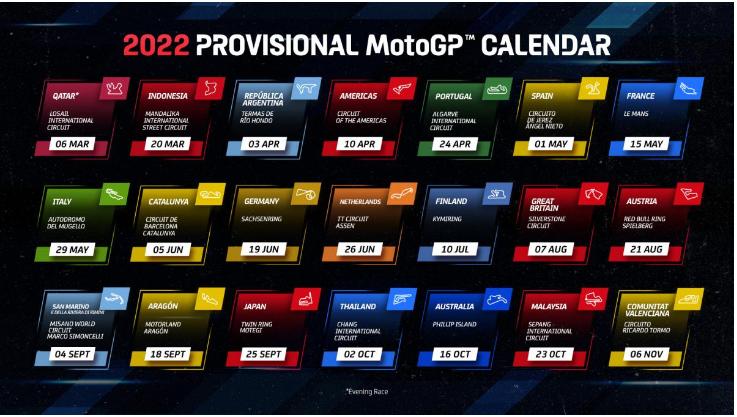 MOTO GP CALENDRIER 2022 Cap18842