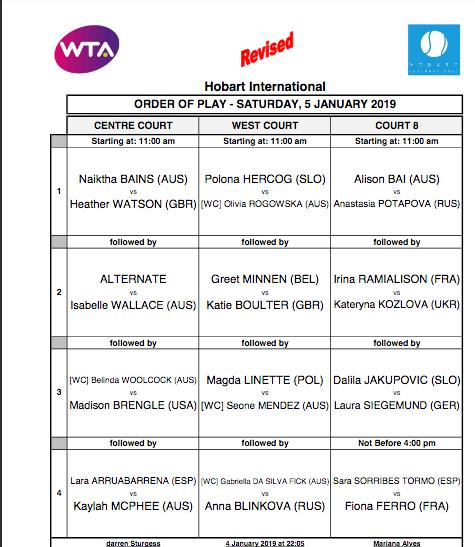 WTA HOBART 2019 Capt2757