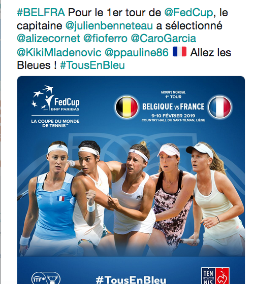 FED CUP 2019: Groupe Mondial Capt2991