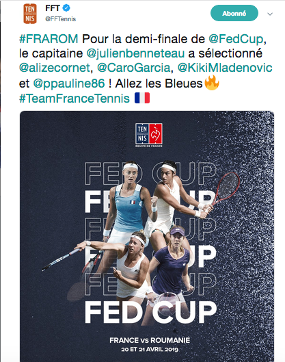DEMI-FINALE FED CUP 2019 Capt4101