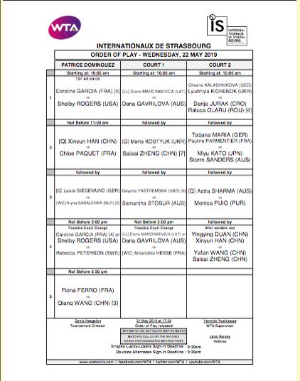 WTA STRASBOURG 2019 - Page 2 Capt4737