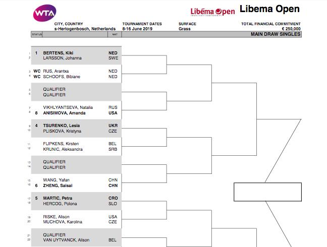 WTA 'S-HERTOGENBOSCH 2019 Capt5117