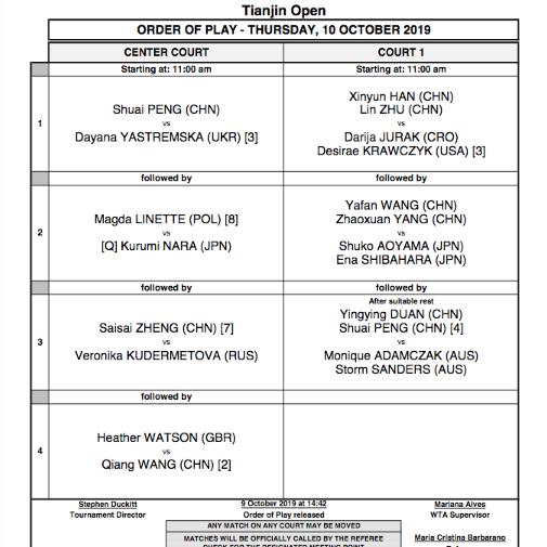 WTA TIANJIN 2019 - Page 2 Capt6782