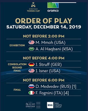Exhibition de tennis international du 12 au 14 décembre 2019, à Dariya, Arabie saoudite - Page 2 Capt7290