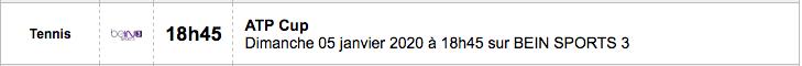 TENNIS PROGRAMME TÉLÉVISION 2020 Capt7350