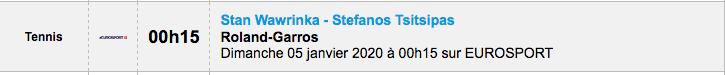 TENNIS PROGRAMME TÉLÉVISION 2020 Capt7351