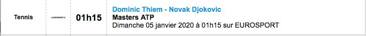 TENNIS PROGRAMME TÉLÉVISION 2020 Capt7352