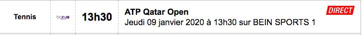 TENNIS PROGRAMME TÉLÉVISION 2020 Capt7430