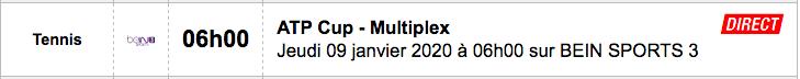 TENNIS PROGRAMME TÉLÉVISION 2020 Capt7431