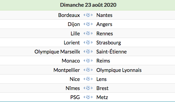 Championnat de France de football LIGUE 1 -2020 -2021 Capt8587
