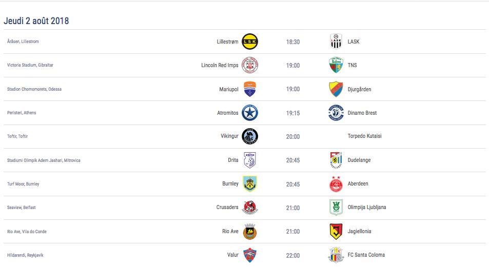 Ligue Europa 2018  - 2019 -2020 Captu654