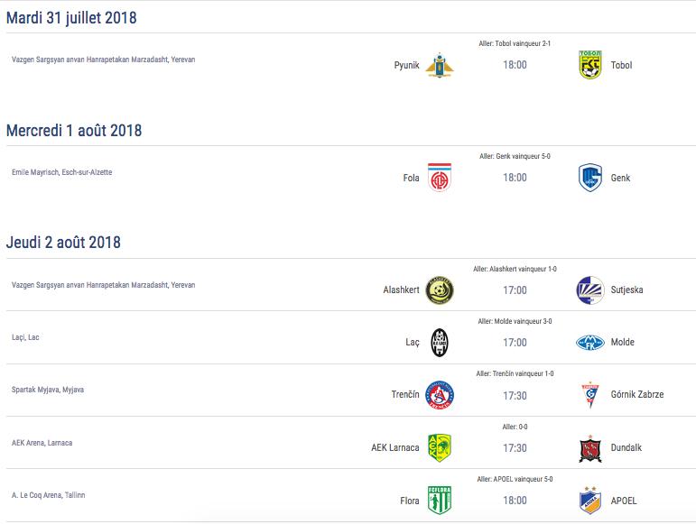 Ligue Europa 2018  - 2019 -2020 Captu718