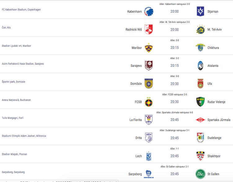 Ligue Europa 2018  - 2019 -2020 Captu721
