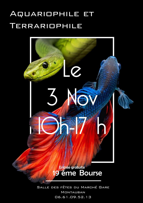 Bourse aquariophile Montauban 3 novembre 2019 Affich10