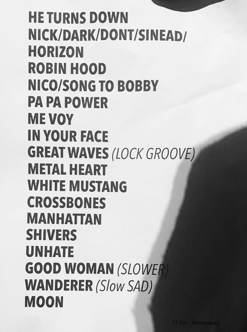 4/1/19 – Minneapolis, MN, The Varsity Theater 1740