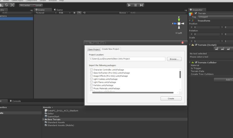 Unity 4 - Creare un Progetto (introduzione) Cattur10