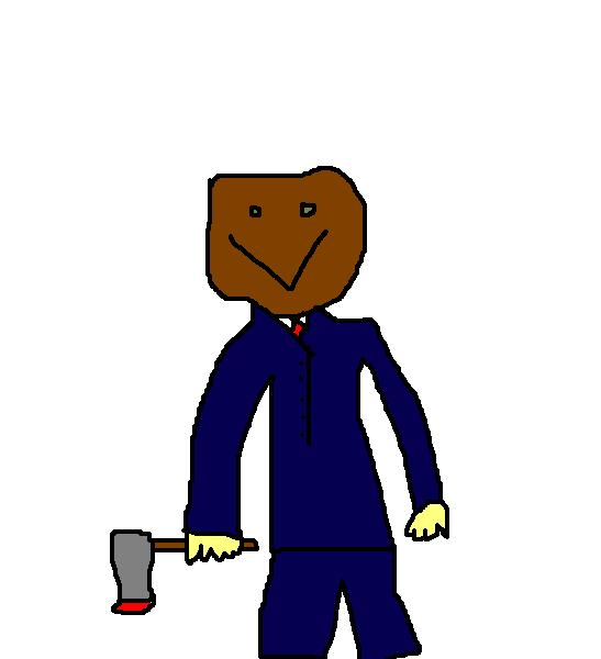 Draw a character from the Slenderman Mythos in MS paint Baghea10
