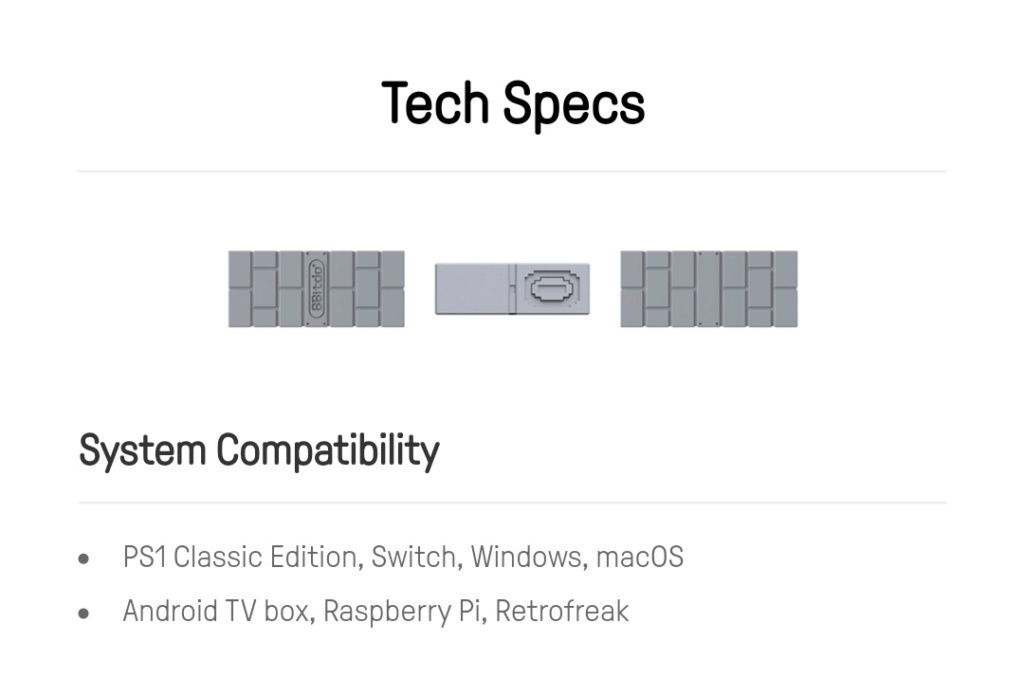 8Bitdo Usb Adapter PS1 Classic sur Belchine.net 8bitdo16