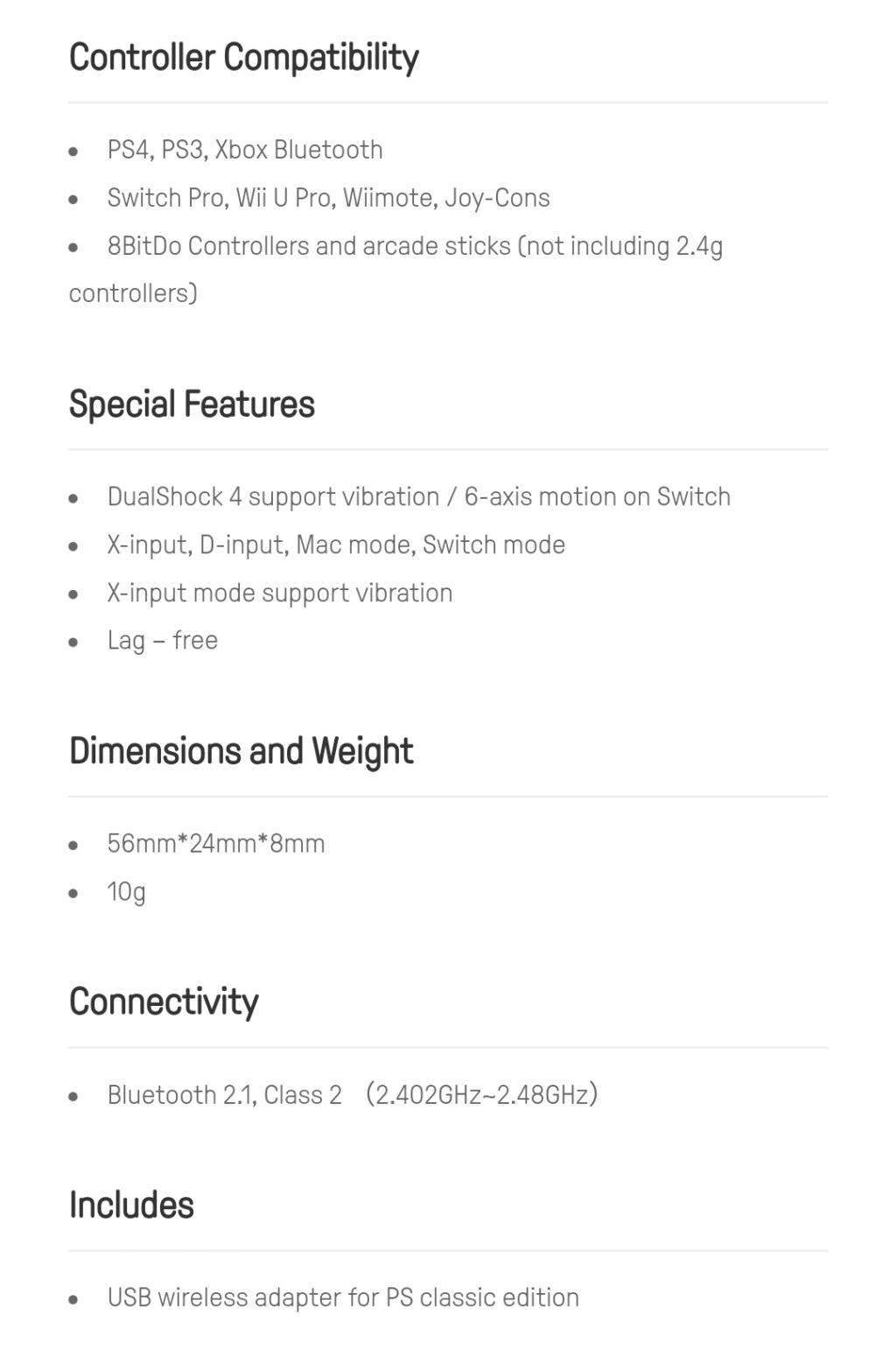 8Bitdo Usb Adapter PS1 Classic sur Belchine.net 8bitdo17