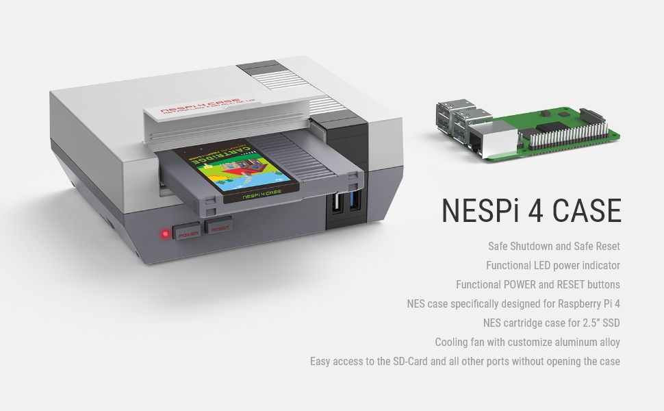 Retroflag NesPi 4 Case sur Belchine.net Nespi-11