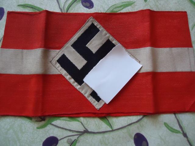 Brassard de la jeunesse Hitlerienne.... Dsc04362