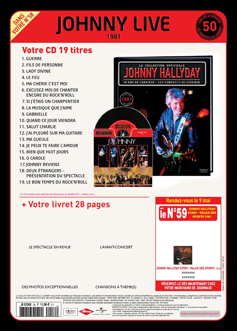 Volume 58 Johnny Live 1981 Jhcoll11
