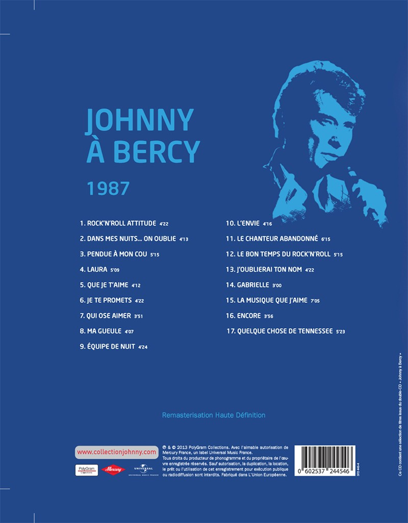 Volume 61 Johnny à Bercy 1987 Jhcoll32