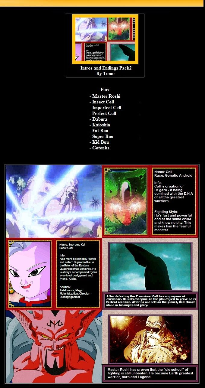 DBZ Intros and Endings by tomo Pack211